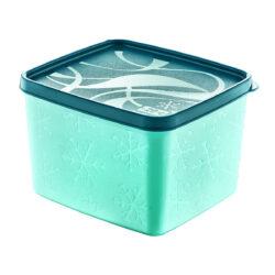 Műanyag tároló doboz mélyhűtőbe 1,2L 13x14x9,5cm Alaska SA-975