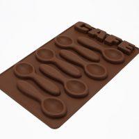 Szilikon csokikanál forma, CAFE felirattal