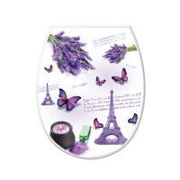 WC ülőke, levendula és Párizs dekor
