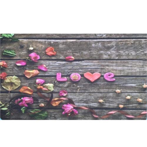 Lábtörlő dekoros 44x73,5cm, LOVE