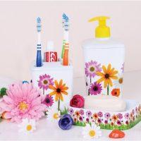 Fürdőszobai szett (3 részes) dekoros 392, flower