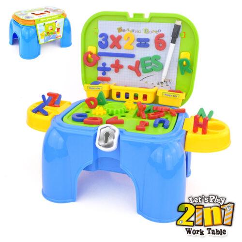 Játék saját tanuló szett, hordozható, ülőke/sámli funkcióval (55 részes)