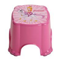 Fellépő gyerekeknek 27x27x20,6cm, rózsaszín, hercegnős, csúszásgátlóval 06105 4