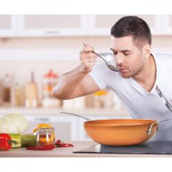 WOK HC kerámia bev. 30x8,5cm Copper Pro Happy Cooking RS-1254