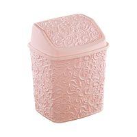 Szemetes billenős csipkés 23x19x28,5cm, rózsaszín