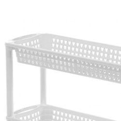 Fürdőszobai Rekesz 3-as 60x18x61cm, gurulós, ALTHEA 1562, fehér