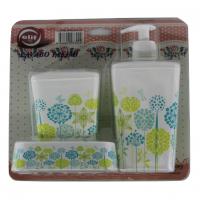 Fürdőszobai szett (3 részes) dekoros 392, floral