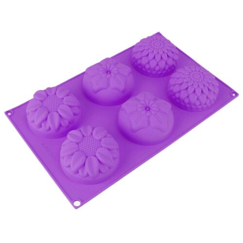 Szilikon sütőforma (6 részes) 29x17x3cm, napraforgó minta