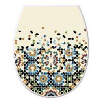 WC tető+ülőke, dekoros 372, 36,5x45x3,5cm, mozaik