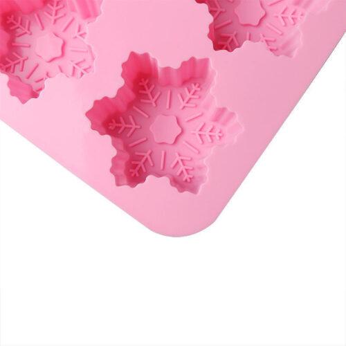 Szilikon forma, karácsonyi (6 részes), 25x17x2,5cm, hópehely minta