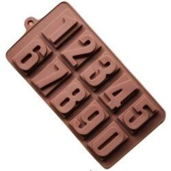Szilikon forma, praliné (10 részes) 20,5x11x2,5cm, 0-9 számok