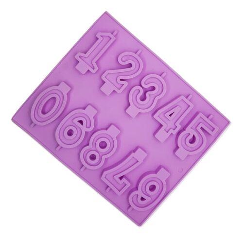 Szilikon forma, gyertya forma 10r. 25,5×21,5x1cm, 0-9 számok