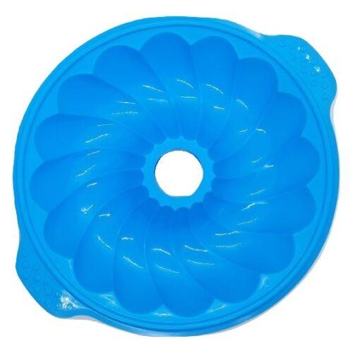 Szilikon forma, nagy csavart kuglóf, 25x29x5,5cm, kék