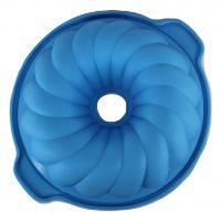 Szilikon kuglóf forma, kör alakú, 22,5x29x5,5cm, csavart