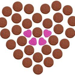 Szilikon bonbon forma, rózsa, 25x23,5x2cm, LOVE feliratos - szív alakú