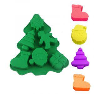 Szilikon forma, karácsonyi 6r. 23×18,5×2,5cm, fenyőfa alakú