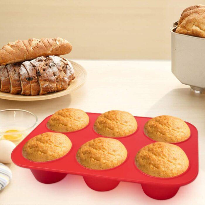 Szilikon sütőforma 6 részes 17x3x25,5cm, muffin forma