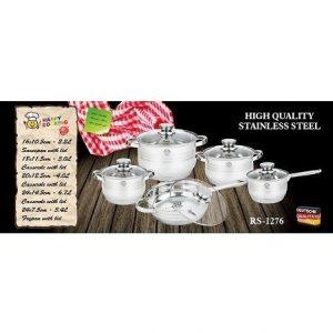 Edénykészlet HC 10r. mértékjeles, üveg fedővel Happy Cooking RM RS-1276