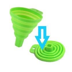 Összecsukható szilikon tölcsér 7,5x9,5x8,5cm több színben