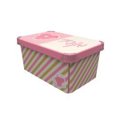Tároló doboz Q 10L 23x34,5x16cm IT'S A GIRL L