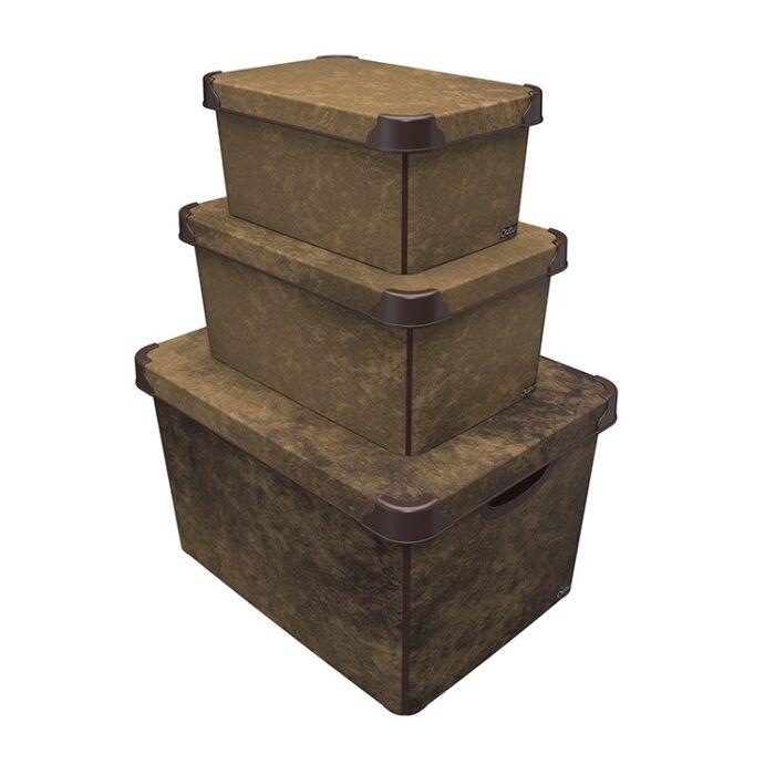 Tároló doboz Q 10L 23x34,5x16cm NUBUCK L