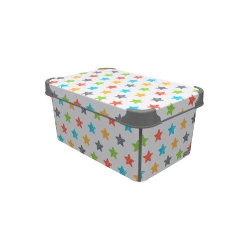 Tároló doboz Q 5,0L 19x28,5x13,5cm COLRED STARS M