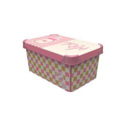Tároló doboz Q 5,0L 19x28,5x13,5cm IT'S A GIRL M