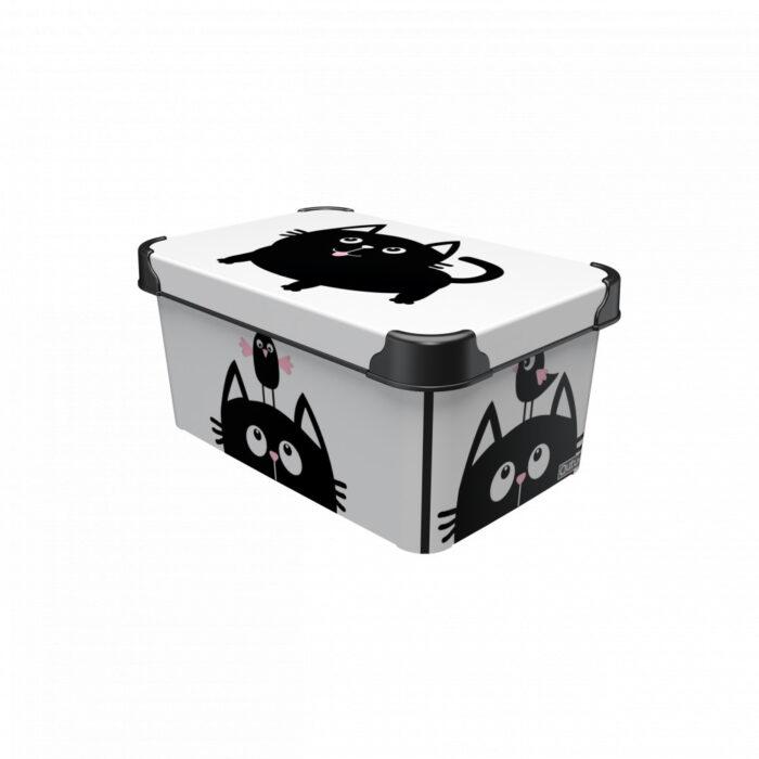 Tároló doboz Q 5,0L 19x28,5x13,5cm MIAU M