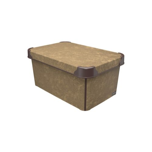Tároló doboz Q 5,0L 19x28,5x13,5cm NUBUCK M
