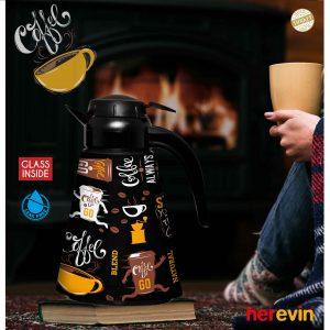 Termosz 1,2L vákuumos Kúpus Coffee /fekete/ 161704-006
