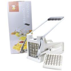 Hasábburgonya vágó 2 betéttel fém nyomókerettel Happy Cooking RM RS-1301