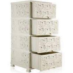Komód Csipkés 4fiókos 37,5x45,5x90cm 295 Tört fehér
