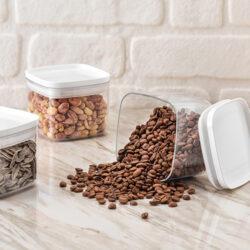 Fűszertartó szilikonos D 0,7L 10,5x10,5x8,7cm Chef 31150