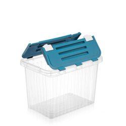 Tároló doboz átlátszó 16L 25,5x38,0x25,5cm Split 20040