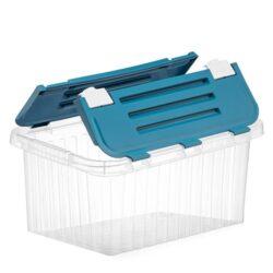 Tároló doboz átlátszó 18L 29,6x43,5x21,9cm Split 20031