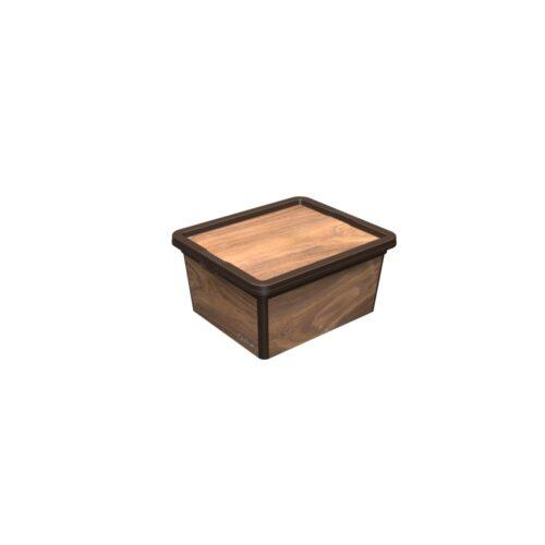Tároló doboz Q 2,5L 16,5x19x9,5cm WOOD S