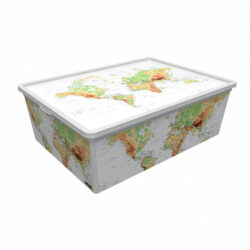 Tároló doboz Q 25L 37x52,5x17,5cm FÖLD XL