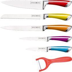 Kés készlet RM színes 5+1r. RL-SS601