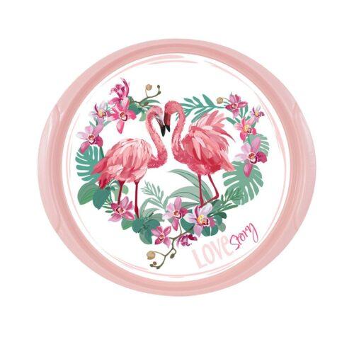 Tálca kerek Flamingo 161061-001