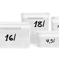 Tároló kosár R 16L 36x26,2x21,1cm BRISEN Szürke 1023908853