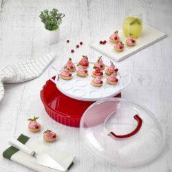 Süteménytartó kerek 30,5x30,5x11cm 9,0L L-653