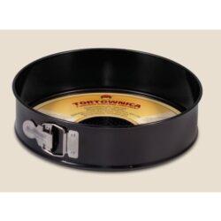 Tortaforma kör alakú csatos 24cm texturált aljjal tapadásmentes fekete 990-23